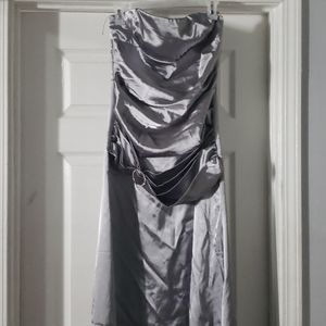 Large silver formal dress